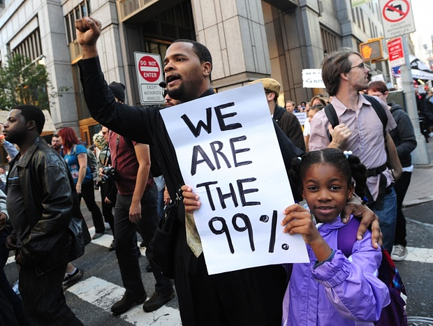 Occupy Wall Street protests in New York in 2011. Photograph: KeystoneUSA-ZUMA / Rex Features/Keystone USA-ZUMA / Rex Features